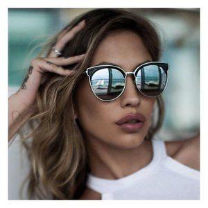 Quay Mia Bella Black Meta Sunglasses